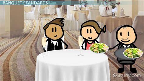 banquet service standards types definition video