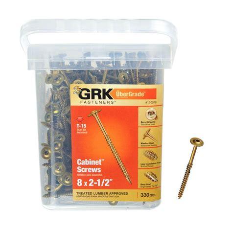 grk cabinet screws grk fasteners 8 in x 2 1 2 in cabinet 330