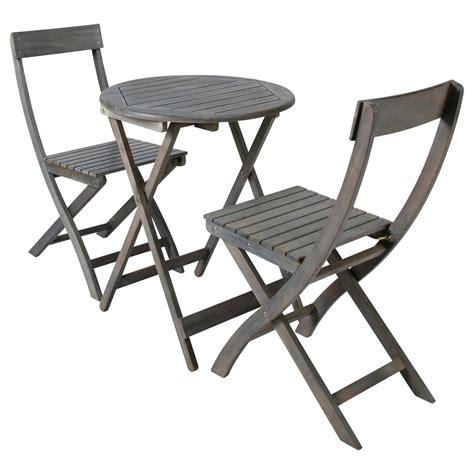 chaises de salon table 2 chaises de jardin en acacia grise d 39 cm