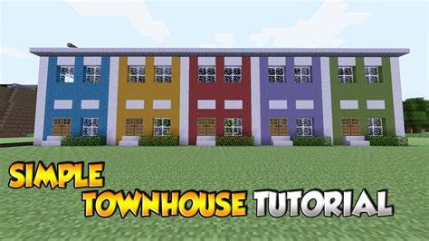 minecraft simple townhouse tutorial xboxpspspc youtube