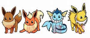 Chibi Eevees by MaeMaeTwin on DeviantArt