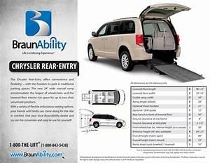Braunability Manual Rear Entry Wheelchair Van