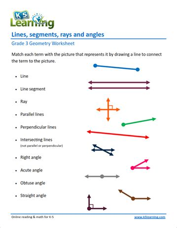 3rd grade geometry worksheets k5 learning