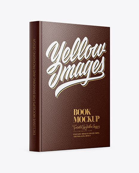 World's best curated collection of mockups for designers. Book withLeather Cover Mockup - Half Side View - Amber ...