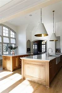 Bleached, Walnut, Double, Island, Honed, Carrara, Marble, Countertops, With, Apron, Front