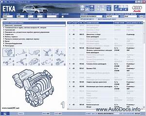 Audi Vw Etka 7 2 Spare Parts Catalog All Models Audi