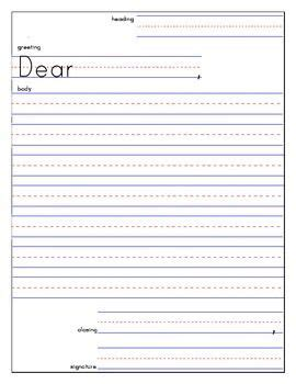 friendly letter template   writing ideas