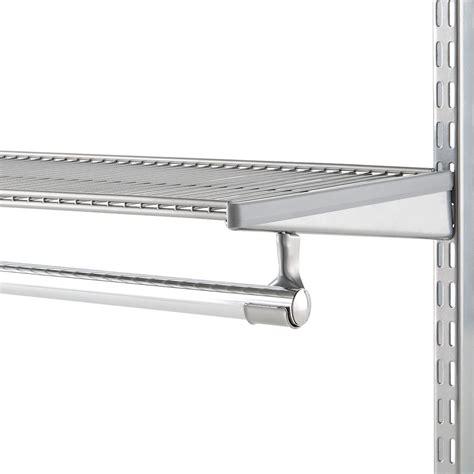 closet bar holder platinum elfa closet rod holder the container
