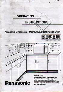 Panasonic Nnc803 Nnc853 Nnc703 Nnc753 Microwave Oven