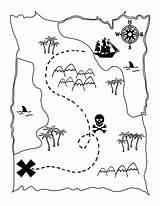 Pirate Coloring Map Games Pirates Printable Treasure Maps Preschool sketch template