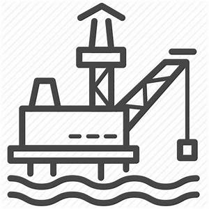 Gas, mining, offshore, oil, oil rig, platform icon   Icon ...