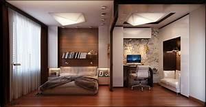 Chambre Avec Bureau : id es pour d corer une chambre coucher masculine ~ Dode.kayakingforconservation.com Idées de Décoration