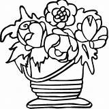 Coloring Vase Colorpagesformom Vases Pottery sketch template