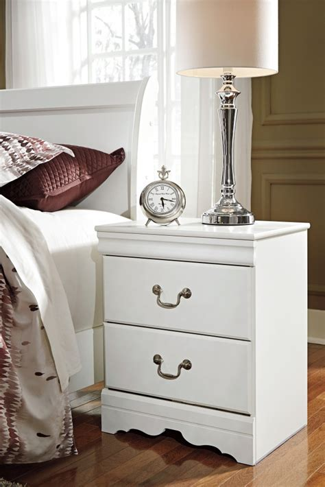Stands Bedroom by Anarasia White Two Drawer Stand B129 92