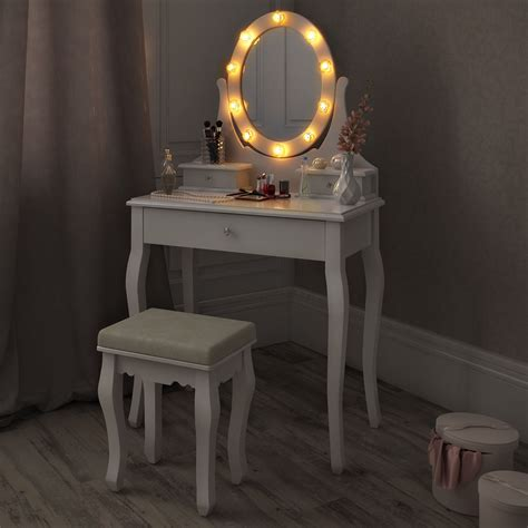 vanity table set with lights white makeup table and vanity desk selection for your room
