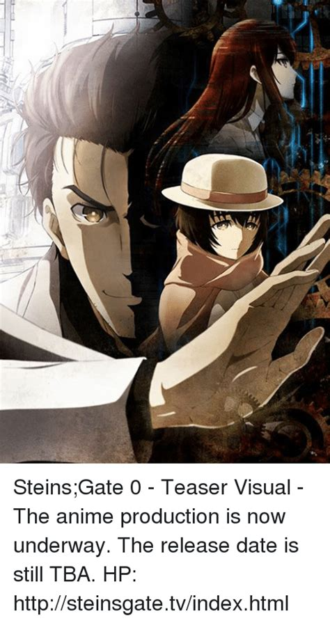 Steins Gate Memes - steinsgate 0 teaser visual the anime production is now underway the release date is still