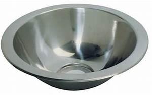 Evier Inox Rond : evier inox rond semi spheriques 335 x 300 lave mains lavabo accessoires rando equipement ~ Melissatoandfro.com Idées de Décoration