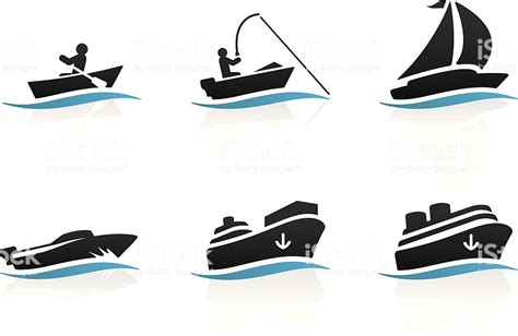 Fishing Boat Icon Free by Boat Icons Stock Vector Art More Images Of Black Color