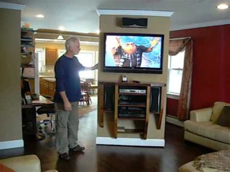 rotating wall entertainment center youtube