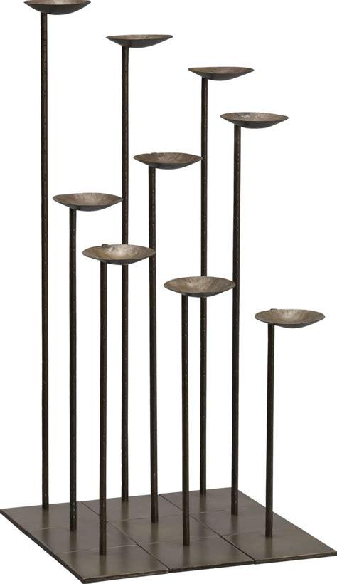 mariel floor pillar candle holders set