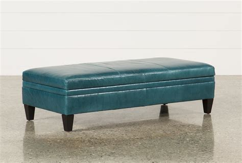 blue oversized chair and ottoman adler leather large rectangle storage ottoman living spaces