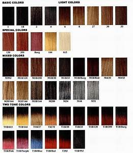 For Writing Hair Color Amp Name Chart Hair Colors ...