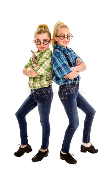 Tap Dancing Nerd Buddies Stock Image Image Of Girls 29076917