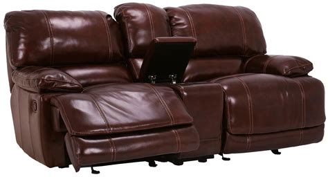 Flexsteel Reclining Loveseat With Console by Flexsteel Furniture Latitudes Belmont Collection