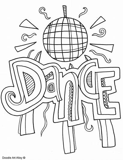 Dance Coloring Subject Doodles Arts Classroom Quotes