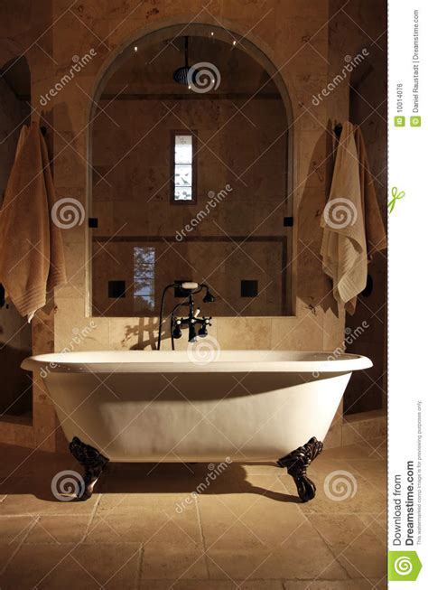 retro claw foot bathroom tub stock photo image
