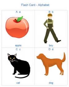 Alphabet Flash Cards Template