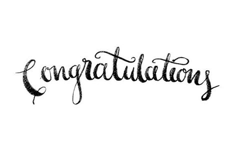 congratulations modern calligraphy  lyeyee