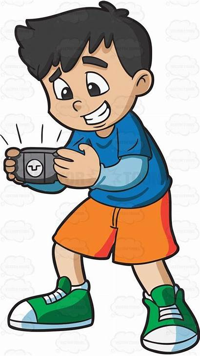 Clipart Engross Engrossed Boy Vectortoons Shorts Entranced