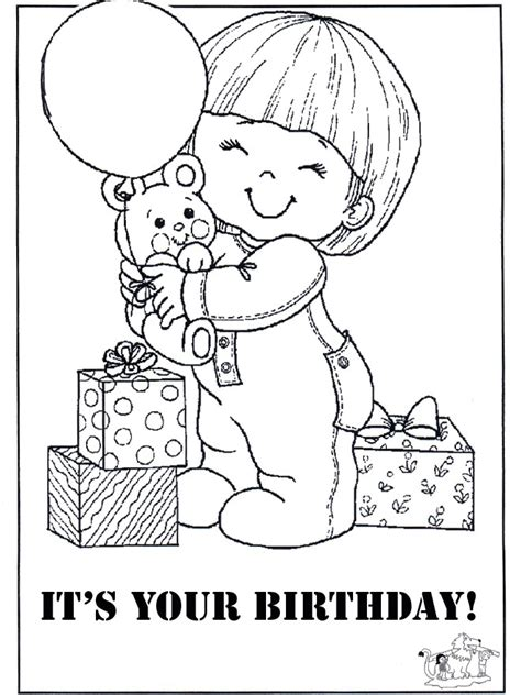 Free Coloring Cards by Birthday Card Coloring Pages Coloring Home