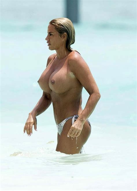 Katie Price Topless Nude Massive Tits On The Beach Scandal