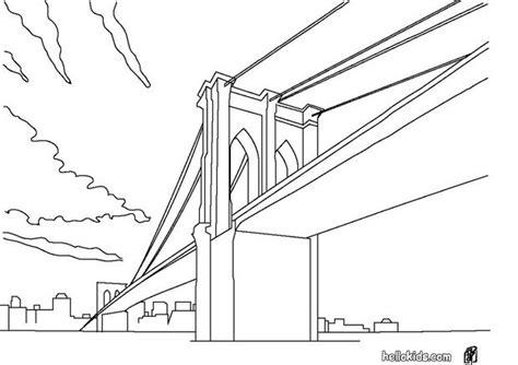 Kleurplaat Nyc by Bridge Coloring Pages Hellokids