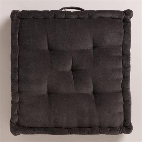 world market floor pillows gray velvet floor cushion world market