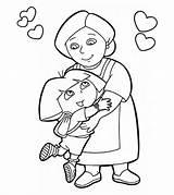 Grandma Coloring Pages Community Printable Momjunction Helpers Little Nurse Credit Larger Ones sketch template