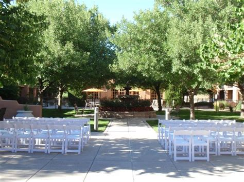 the courtyard in preparation for a wedding picture of