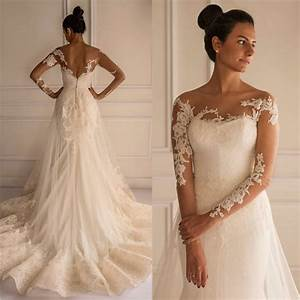 chic lace appliques mermaid tulle wedding dress 2016 court With lace applique wedding dress