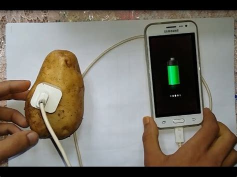 can you charge your phone with a potato mobile charger by potato