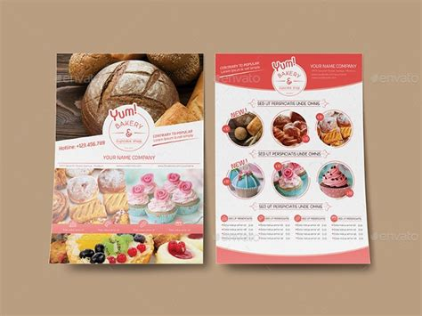 cupcake flyer design psd  design trends