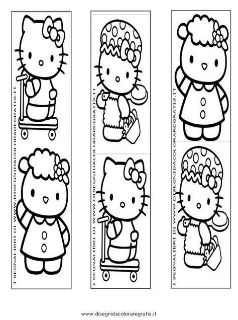 segnalibri per bambini da colorare e stare disegno segnalibri hellokitty categoria giochi da colorare