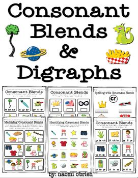 consonant blends digraphs practice  images
