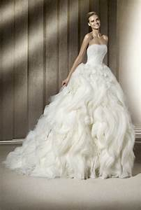 dramatic ballgown wedding dress with layered skirt With dramatic wedding dresses