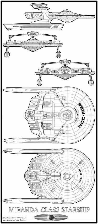 Starship Class Schematics Miranda Trek Star Ships