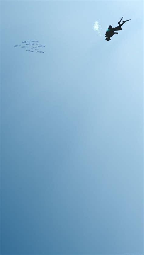 minimalistic underwater art iphone wallpaper iphone