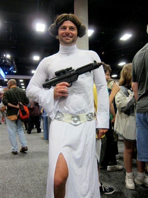 men dressed  female pop culture characters pleated