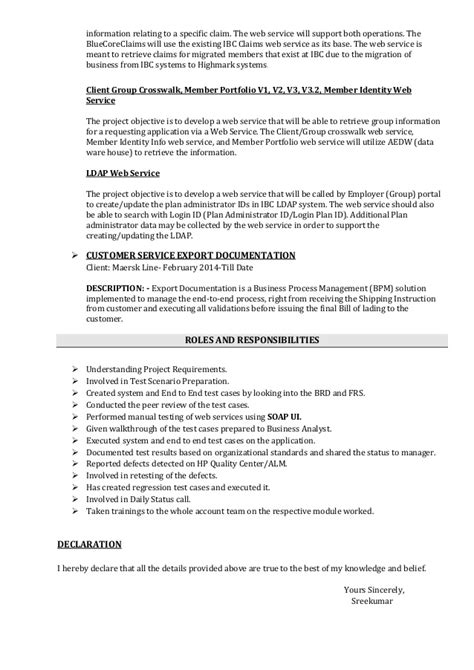 Web Accessibility Testing Resume by Sreekumar Software Tester Resume