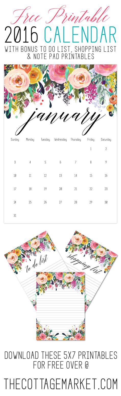 printable  calendar  bonus